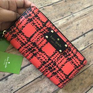 Kate Spade Lacey wallet (Belleville plaid)